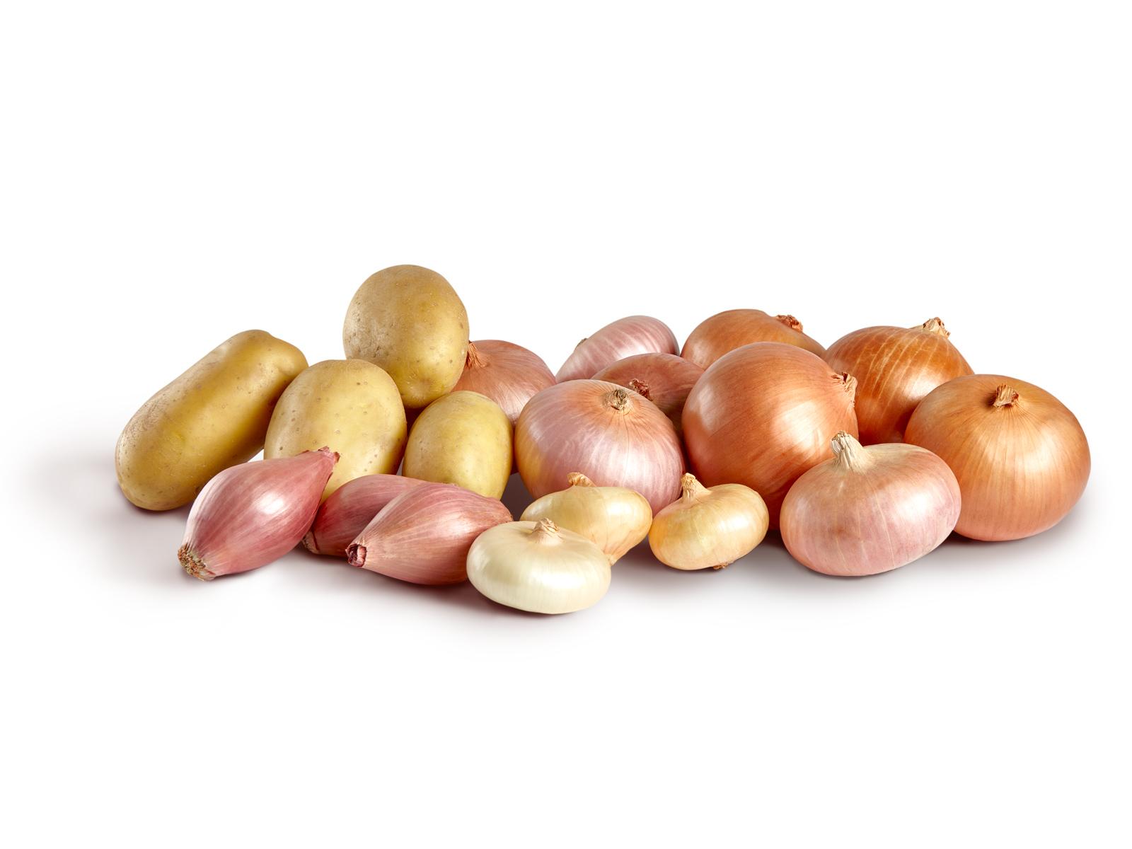 Cipolle, scalogni e patate Freddi