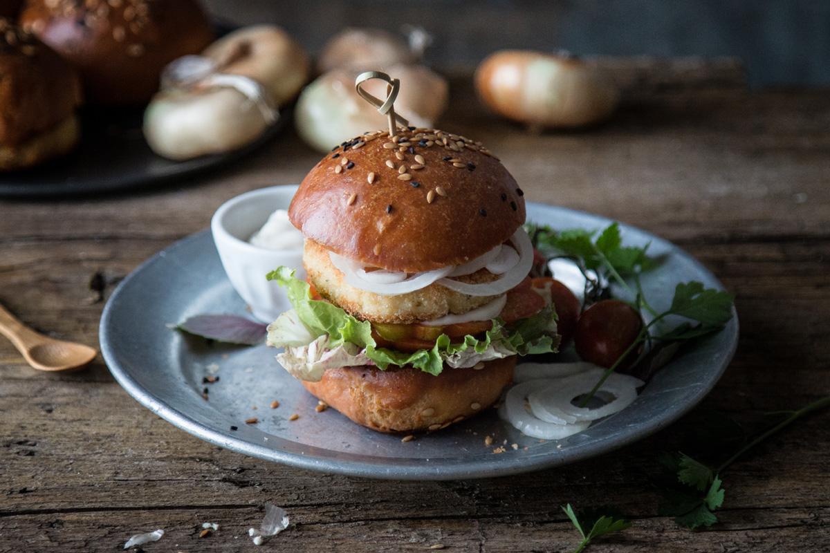 Hamburger di merluzzo e cipolline borettane