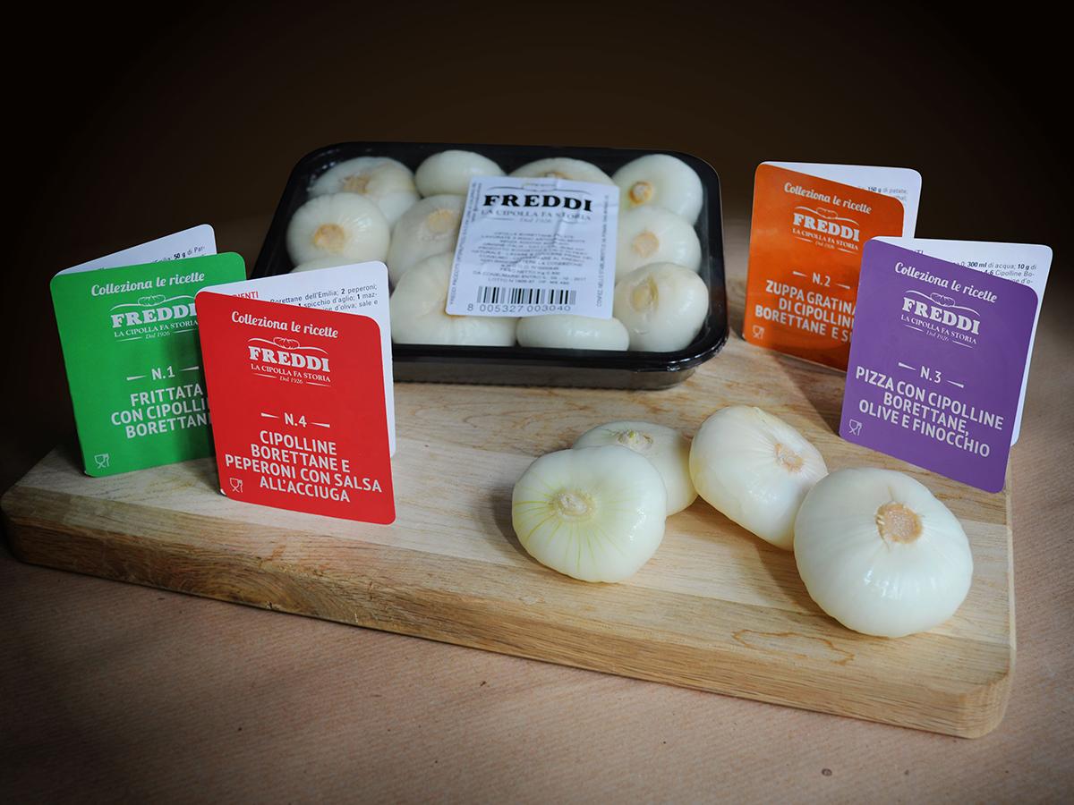 Ricette da collezionare nelle confezioni di Cipolline Borettane pelate Freddi