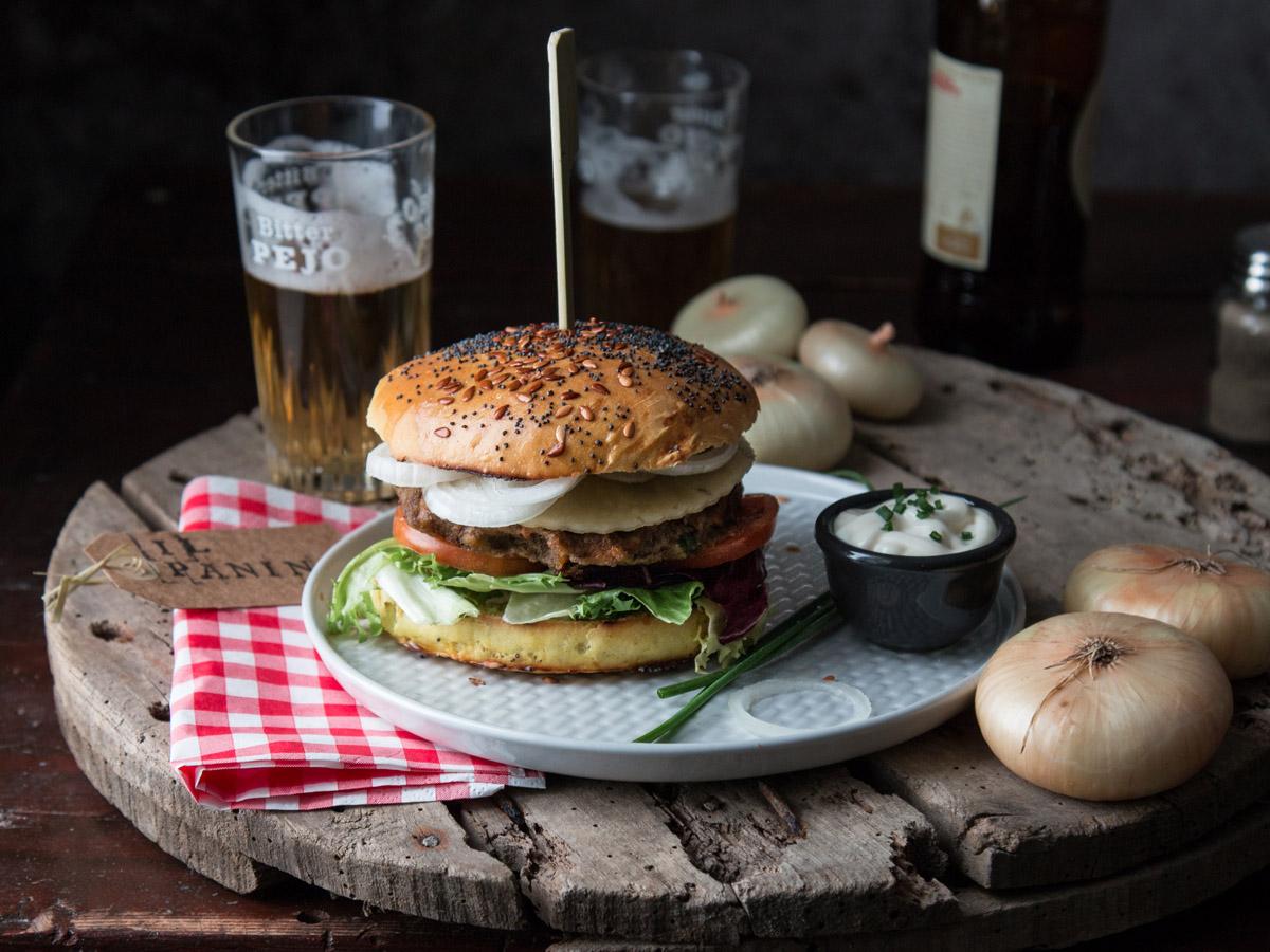 Burger di lenticchie e Cipolline Borettane dell'Emilia